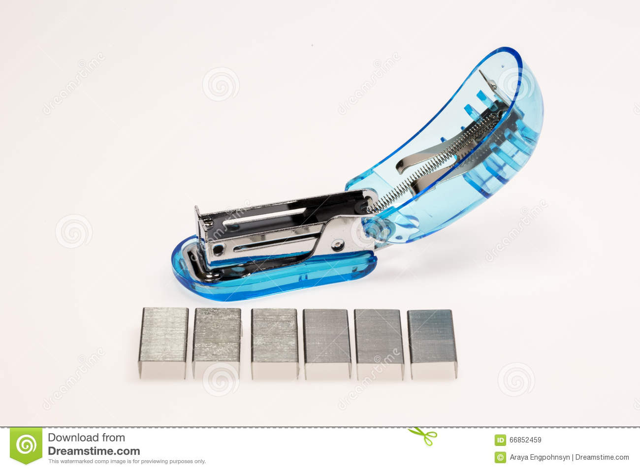 Open Stapler and Wire stock image. Image of white, plastic - 66852459