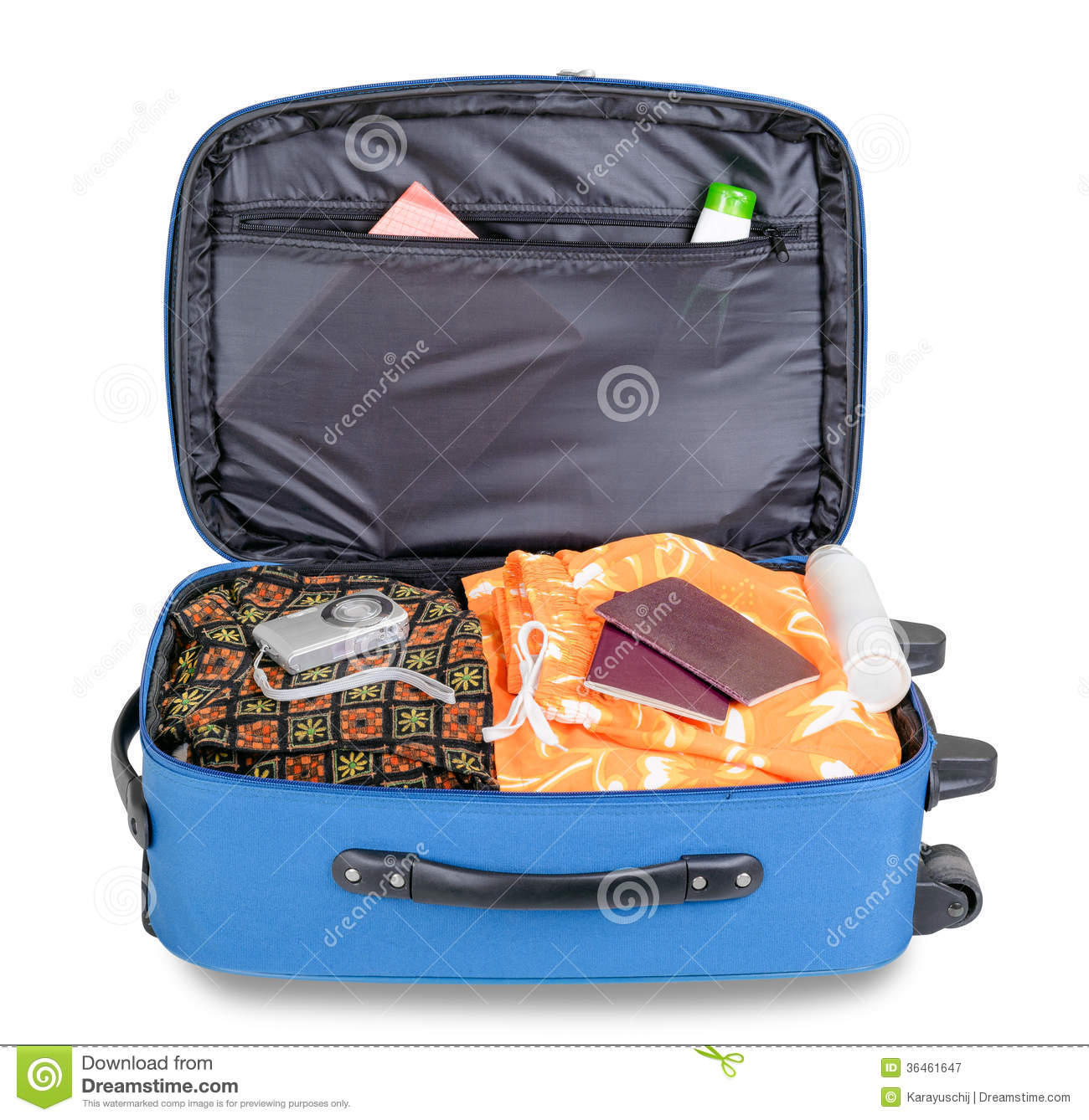 Open Suitcase Stock Image Image Of Clothing Holiday