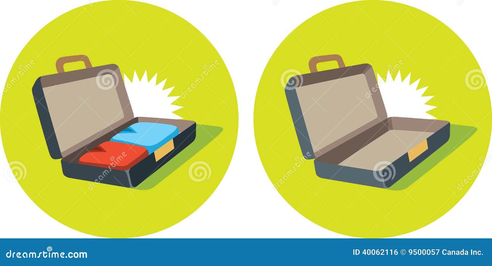 Open Suitcase Icon Sto...