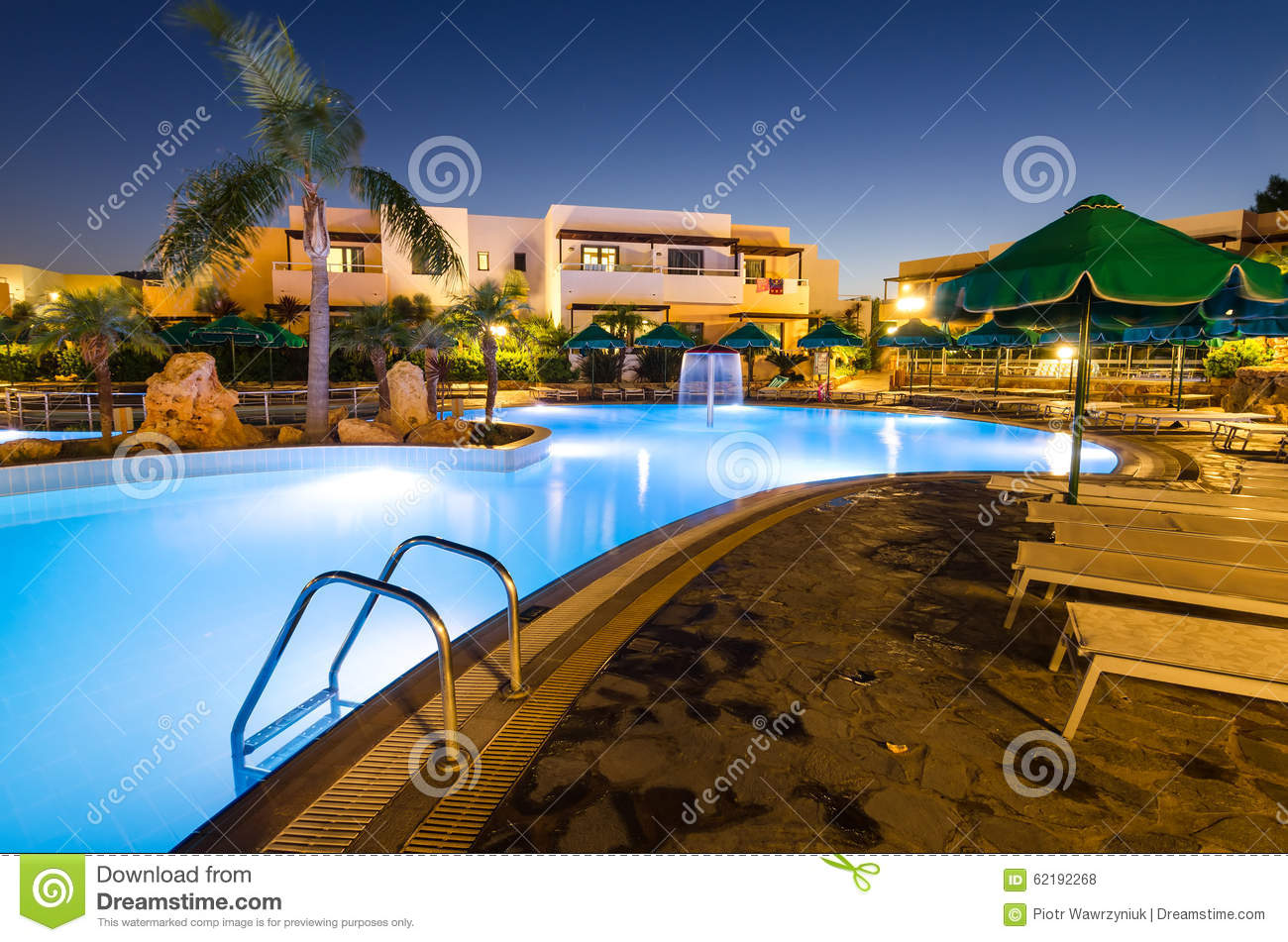 Open Swimming Pools In Mikri Poli Hotel Resort In Kolymbia Editorial Stock Photo Image Of Palm