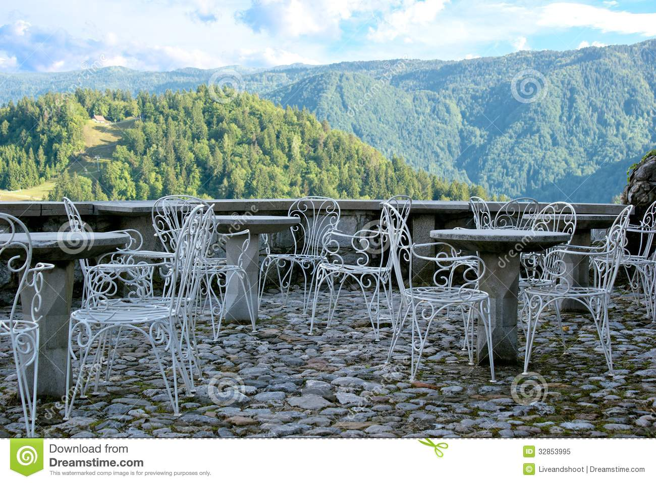 Open terrace royalty free stock photography for Terrace white