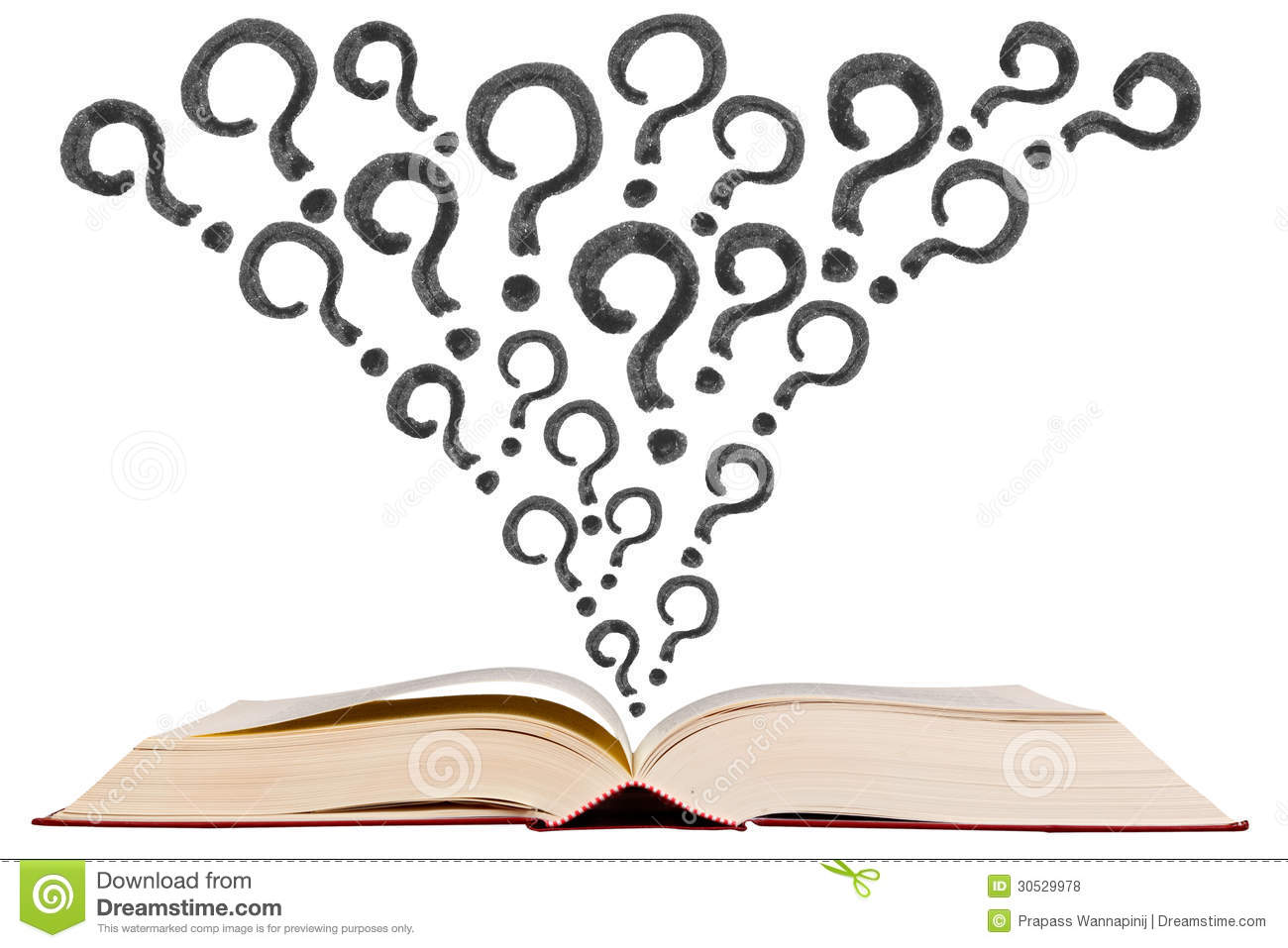 Book Cover Drawing Quiz : Open text book with question mark pen drawing icon stock