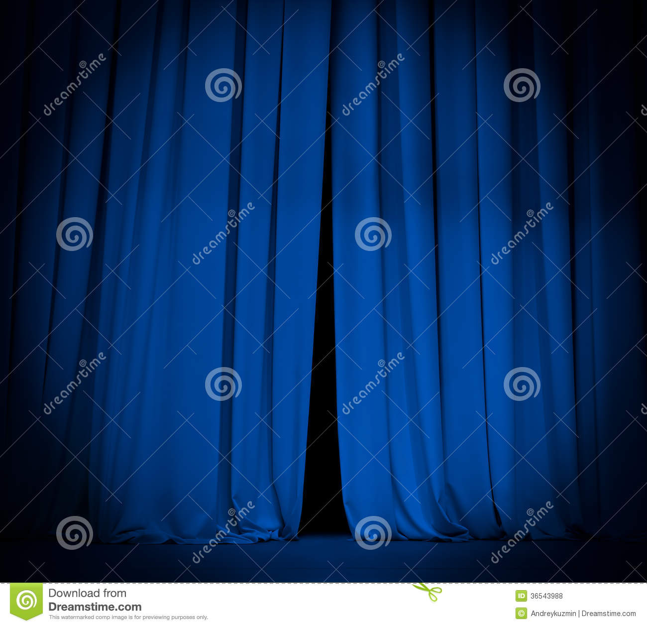 Blue curtain backdrop - Light Blue Curtain Background Open Theater Stage Blue Curtain With Spotlight
