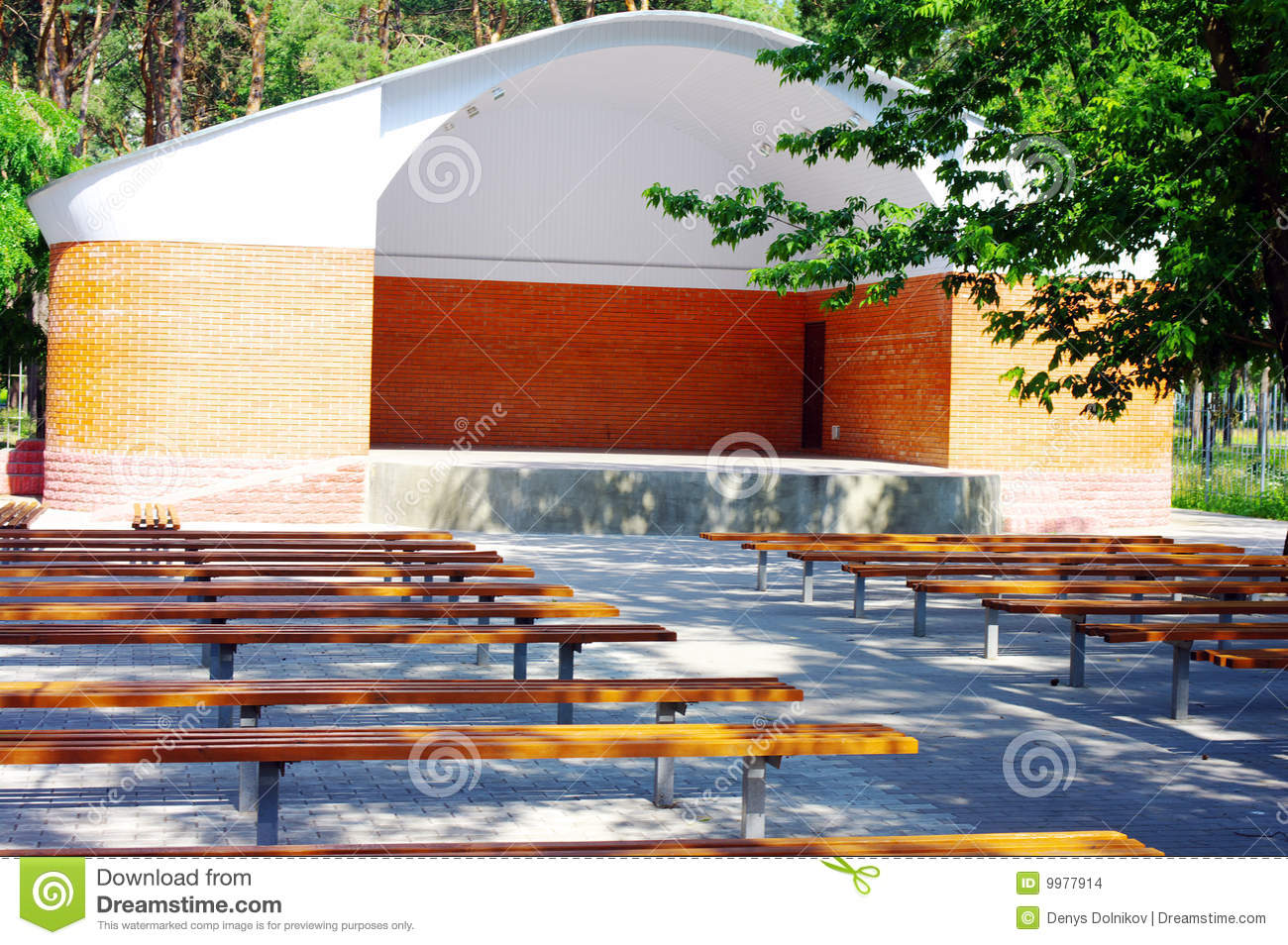 Open Theater Wood Seats Stock Photo Image Of Empty Performance 9977914