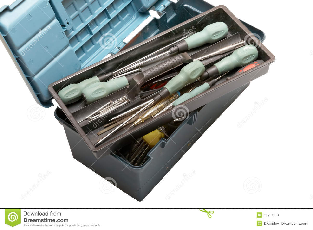 Open Tool Box With Scr...