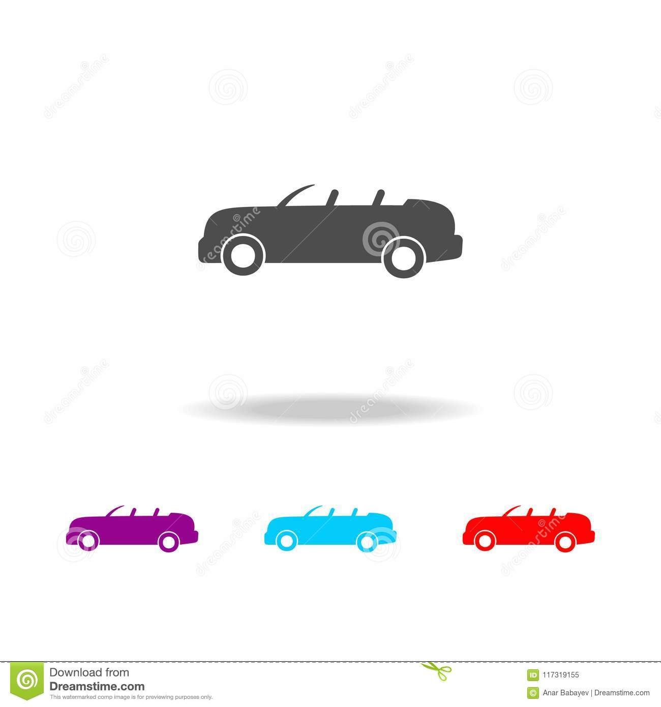 Open Top Car Icon Elements Of Cars In Multi Colored Icons Premium Quality Graphic Design Icon Simple Icon For Websites Web Des Stock Illustration Illustration Of Creative Flat 117319155