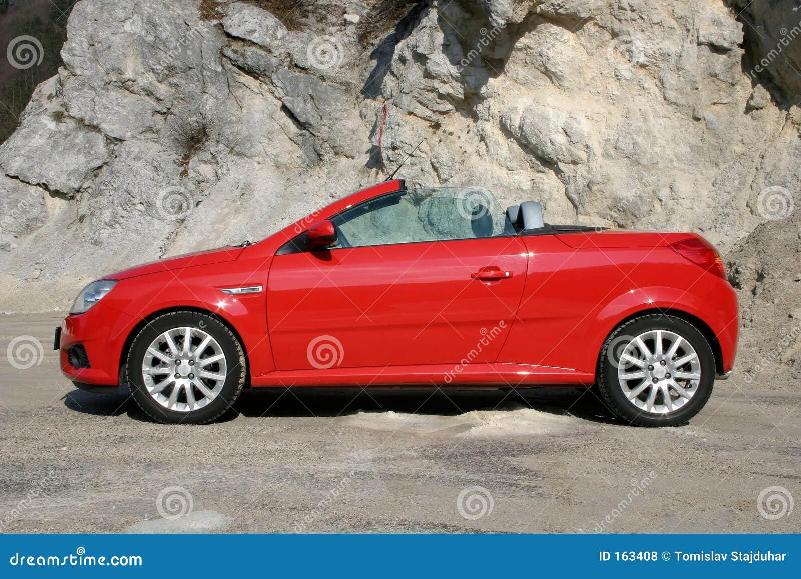 Open top sports car