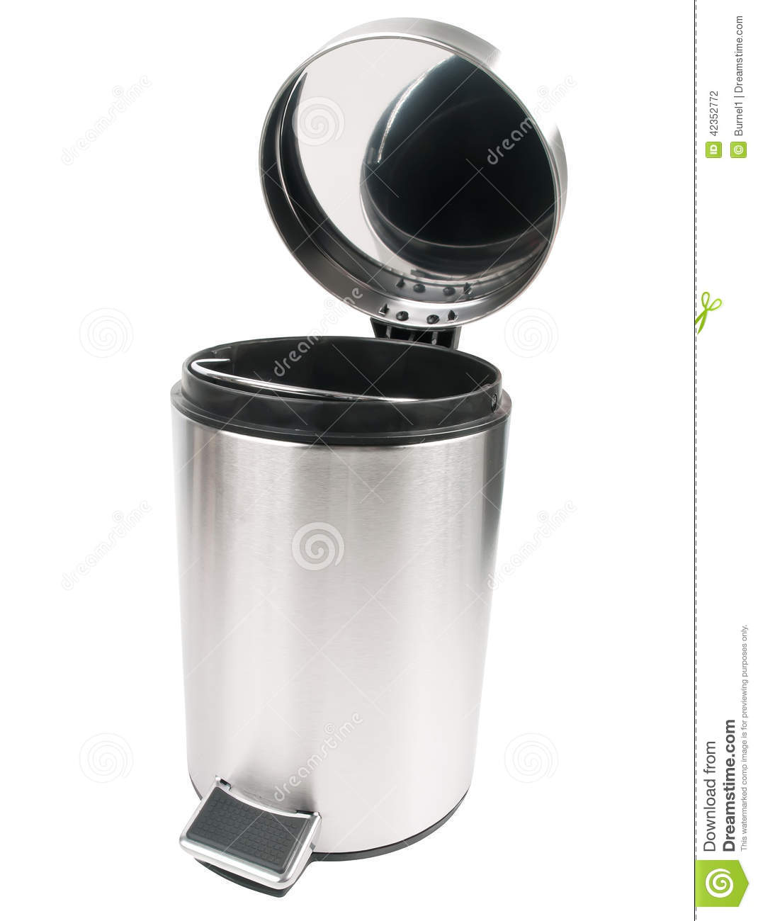 Open Trash Can Stock Photo - Image: 42352772