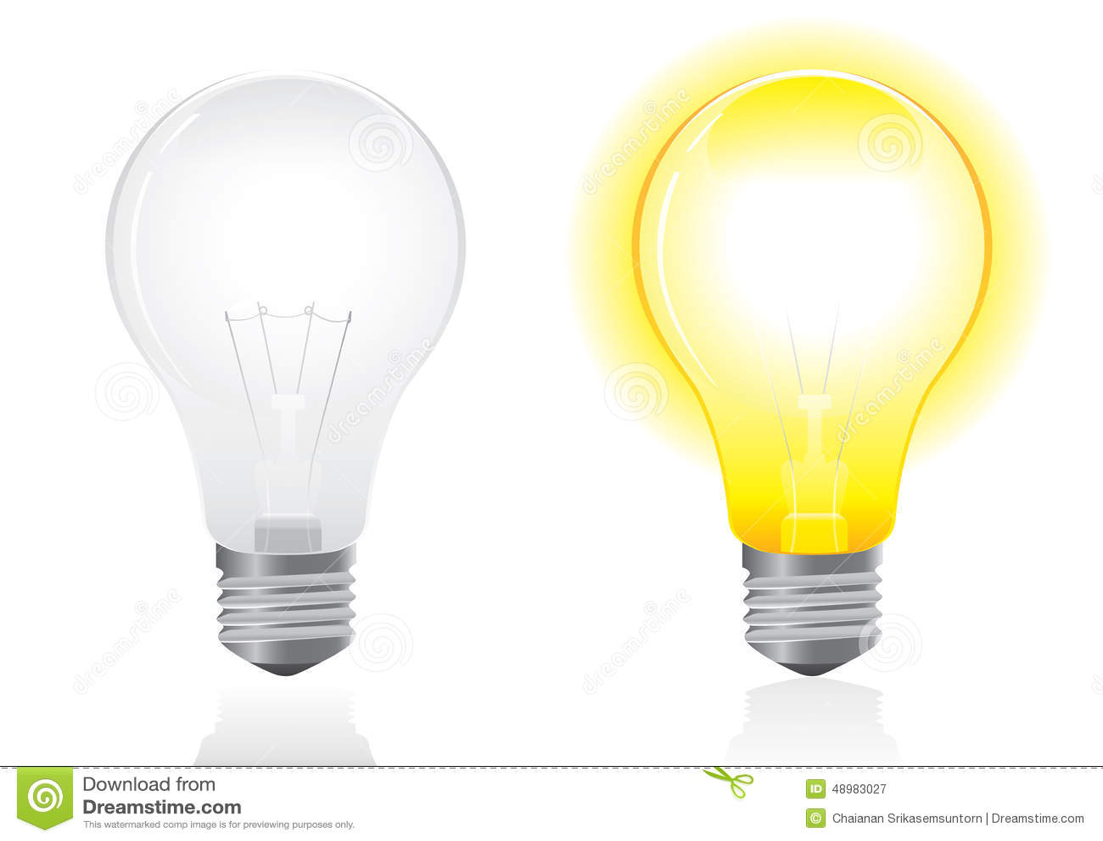 Open And Turned Off Light Stock Illustration Illustration
