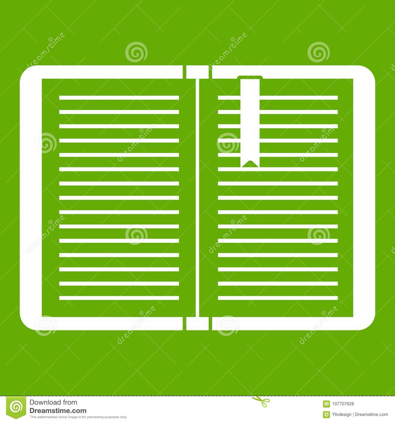 open tutorial with bookmark icon green stock vector - illustration