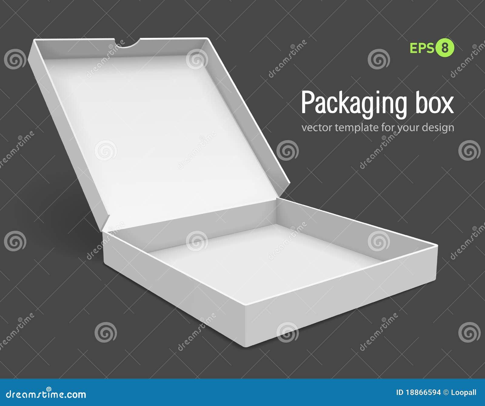 Open verpakkingsdoos voor pizza