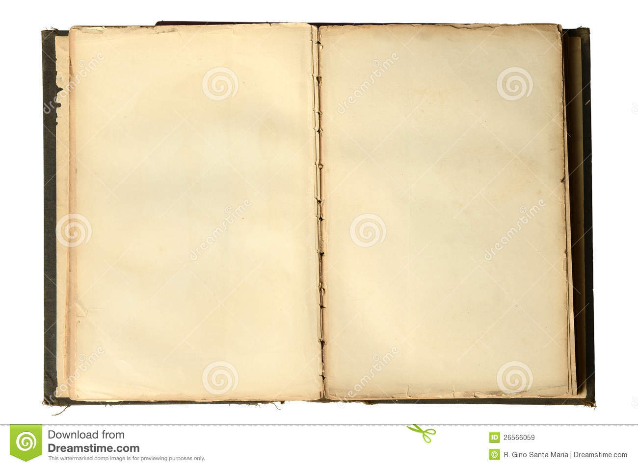 Book Cover Art Royalties : Open vintage book with blank pages stock image of