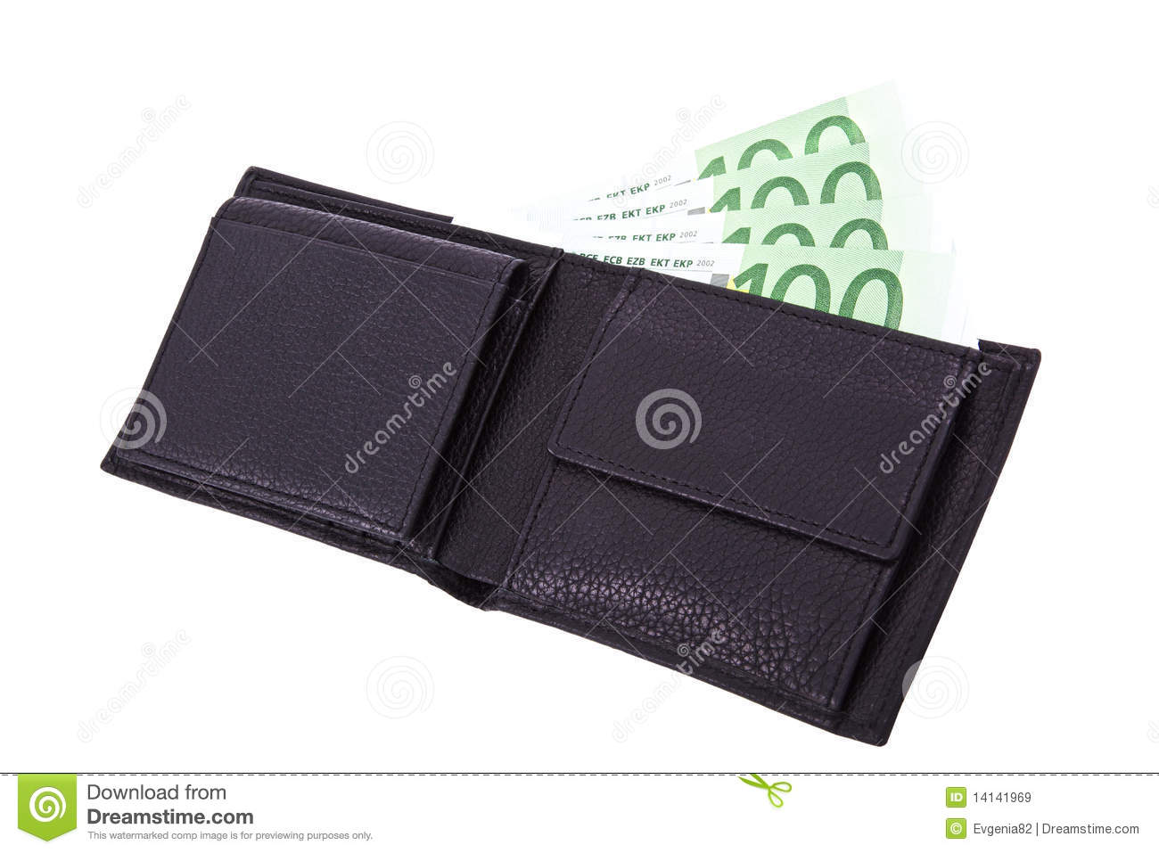 Open Wallet Royalty Free Stock Images - Image: 14141969