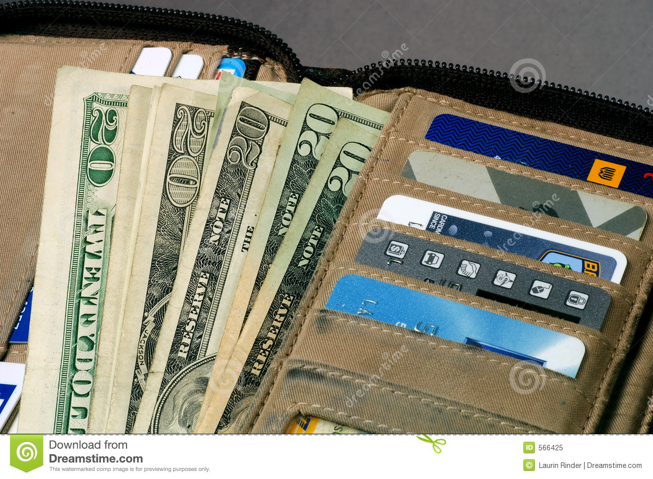 Open Wallet Royalty Free Stock Photo - Image: 566425