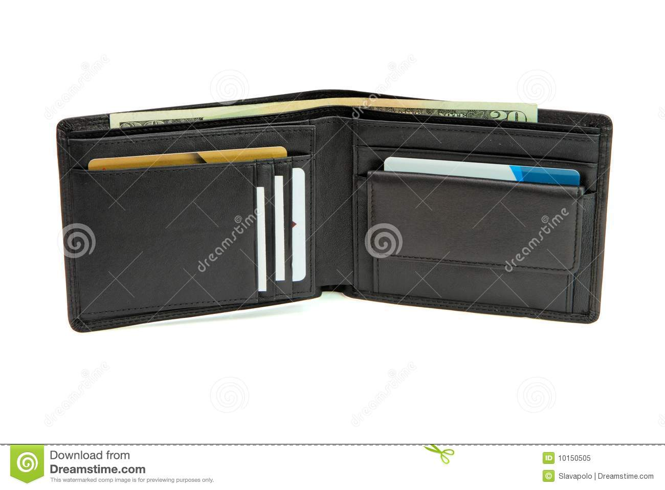 Open Wallet With Business Cards And Dollars Royalty Free ...