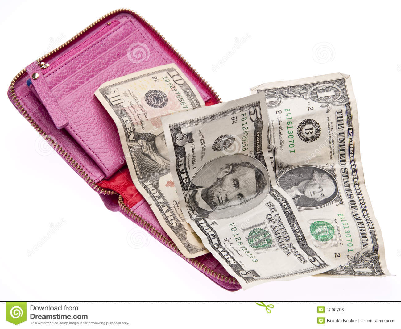 Open Wallet with Money stock image. Image of save ...