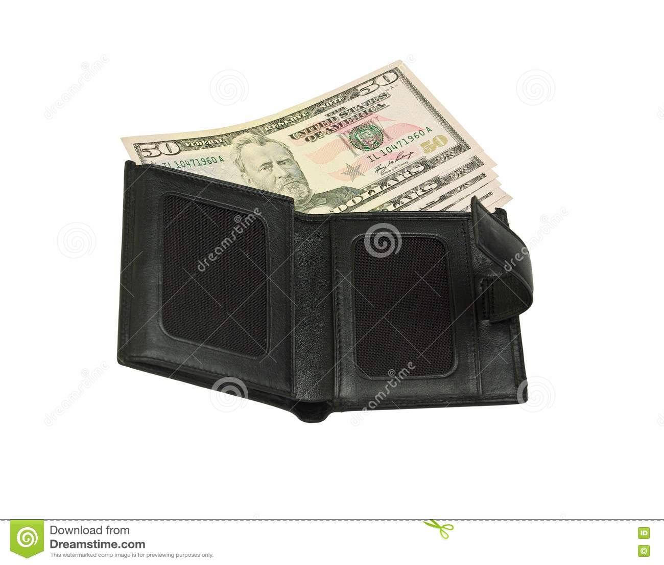Open Wallet With Money Royalty Free Stock Images - Image ...