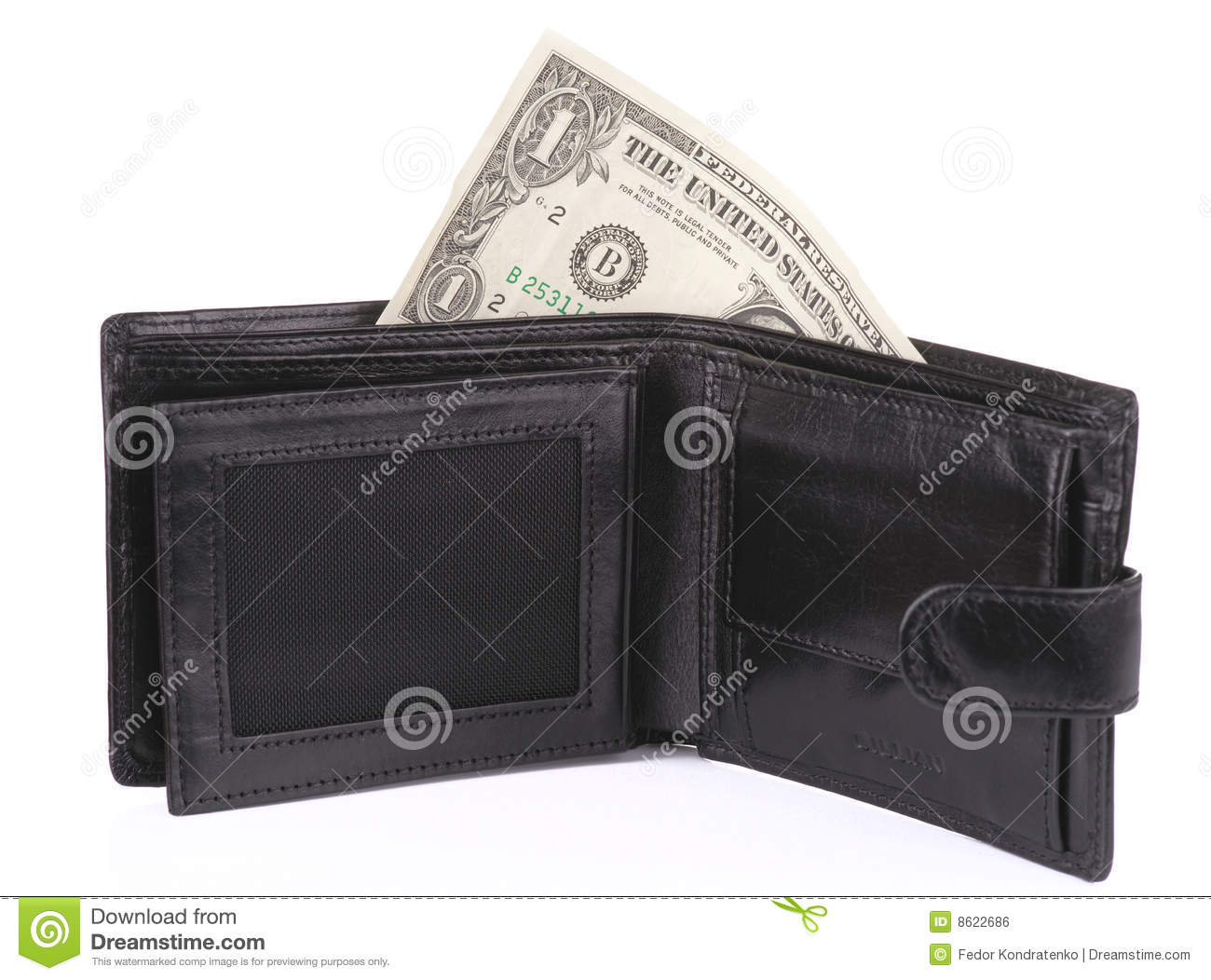 Open Wallet With One Dollar Royalty Free Stock Image ...