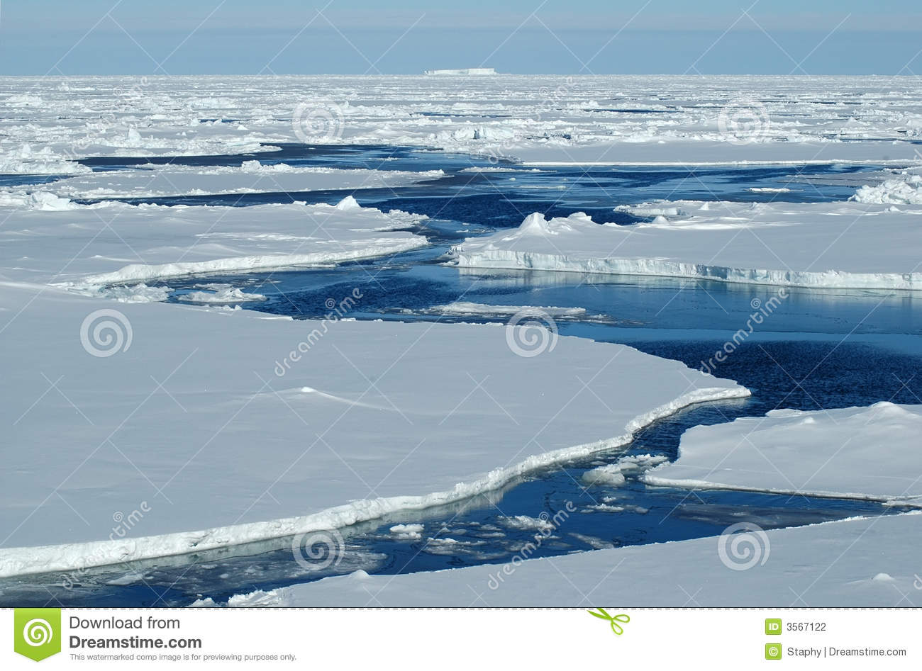 Download Open water with pack ice stock photo. Image of floe, antarctic - 3567122