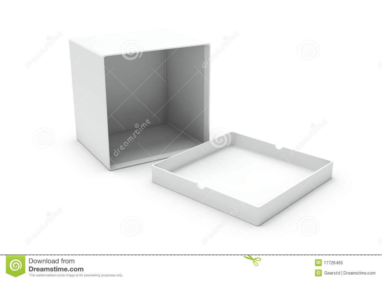 Open White Blank Box On One Side Royalty Free Stock Photo ...