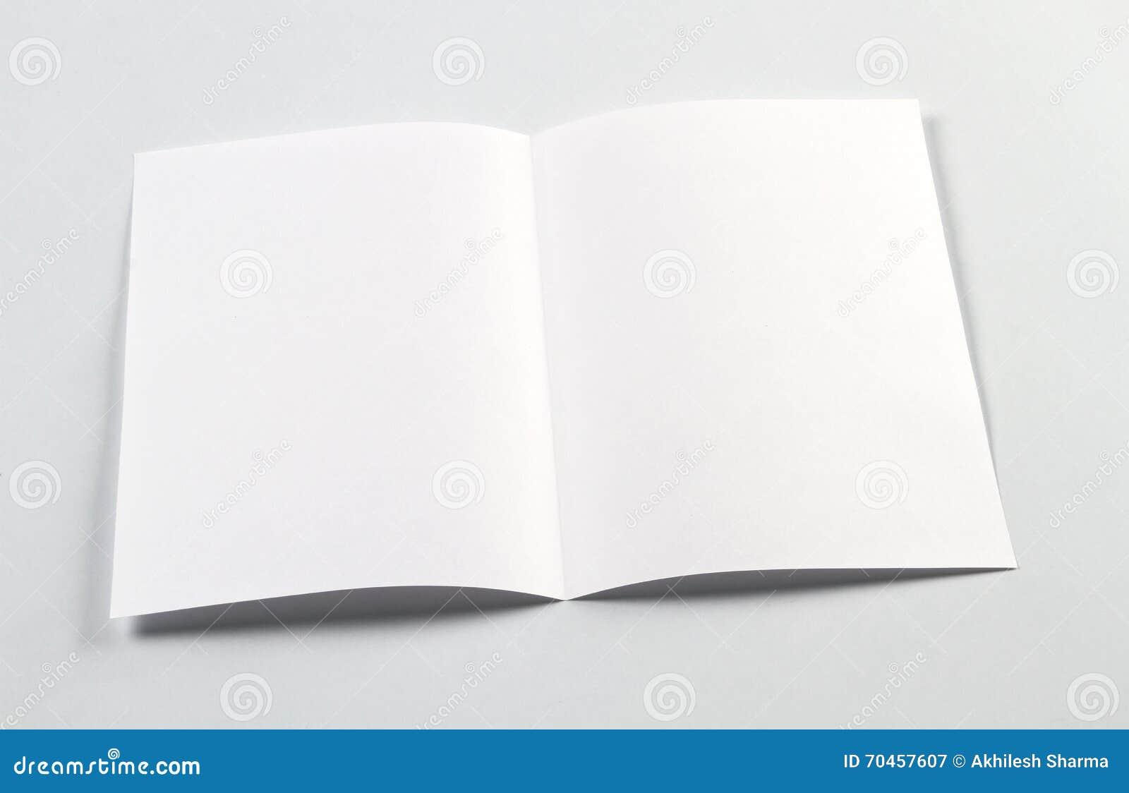 open white blank brochure a4