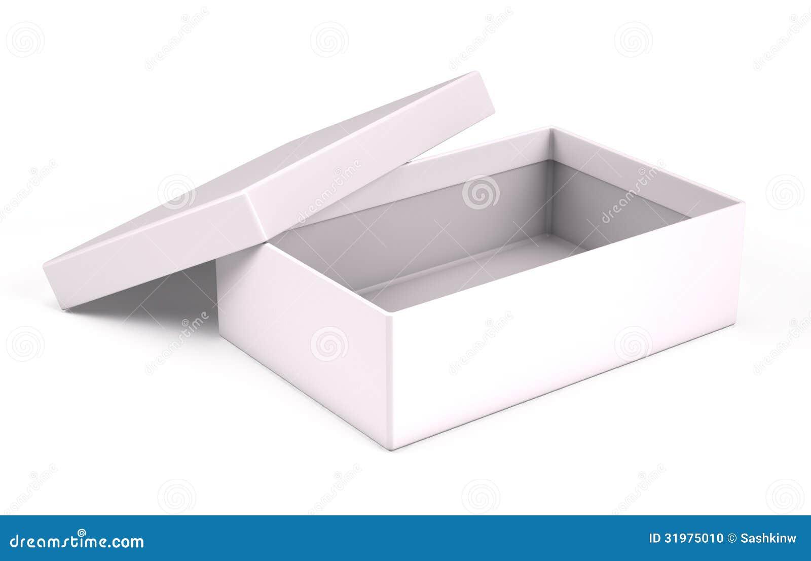 Open White Box Stock Photo - Image: 31975010
