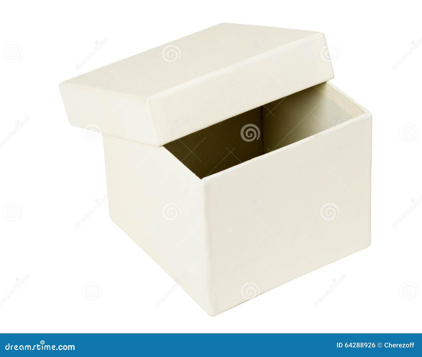 Open white box stock photo. Image of empty, cardboard ...