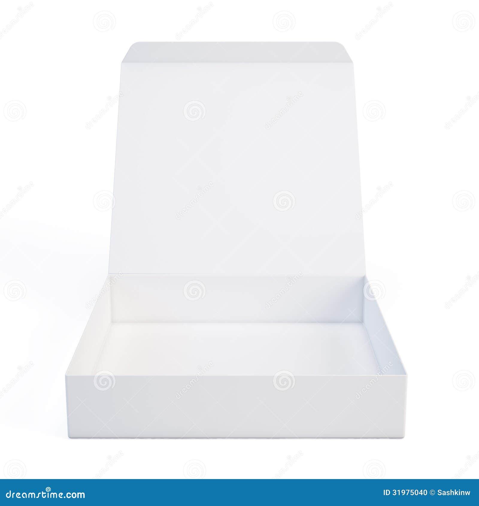 Open White Box Stock Photo - Image: 31975040