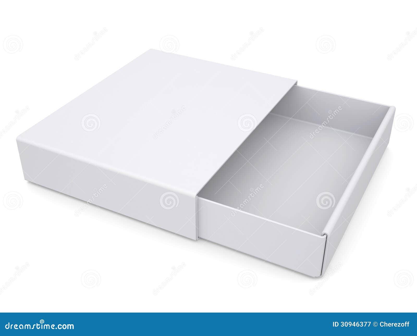 open white box stock illustration illustration of close 30946377. Black Bedroom Furniture Sets. Home Design Ideas