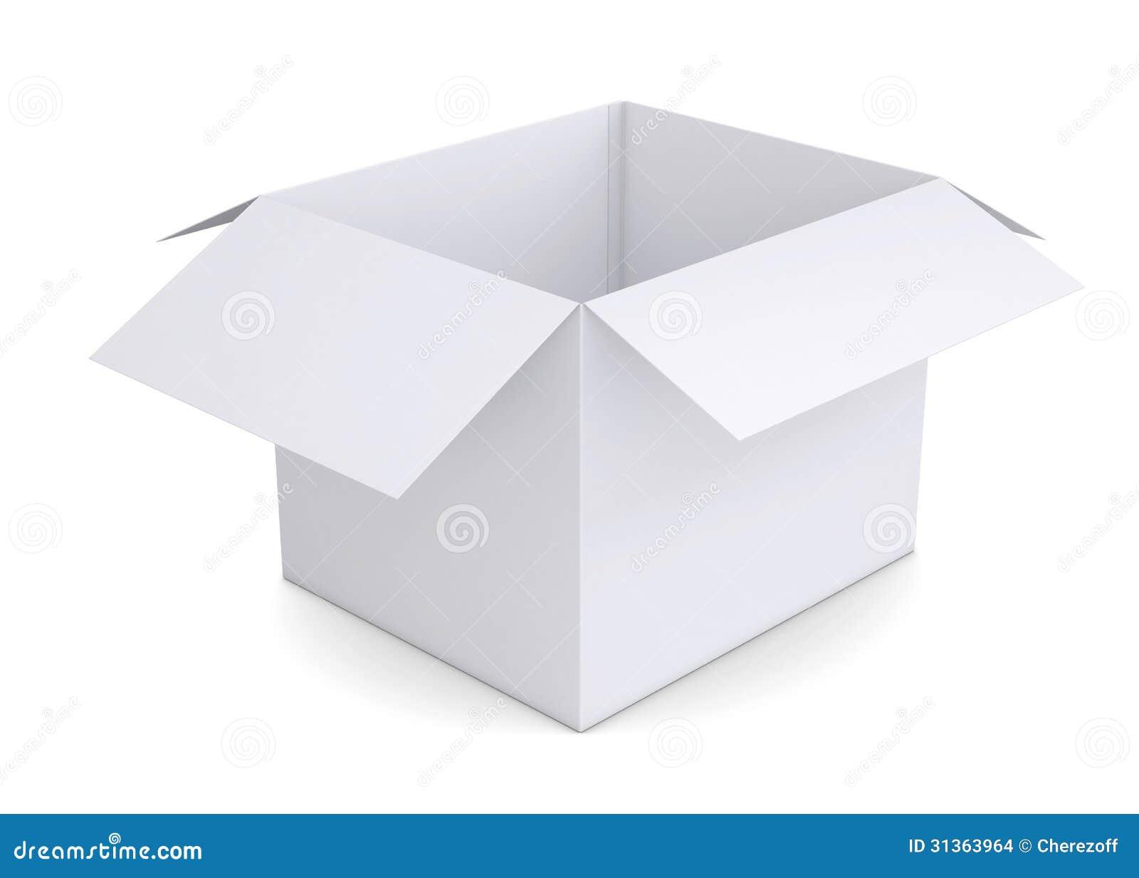 Open white cardboard box stock illustration. Illustration ...