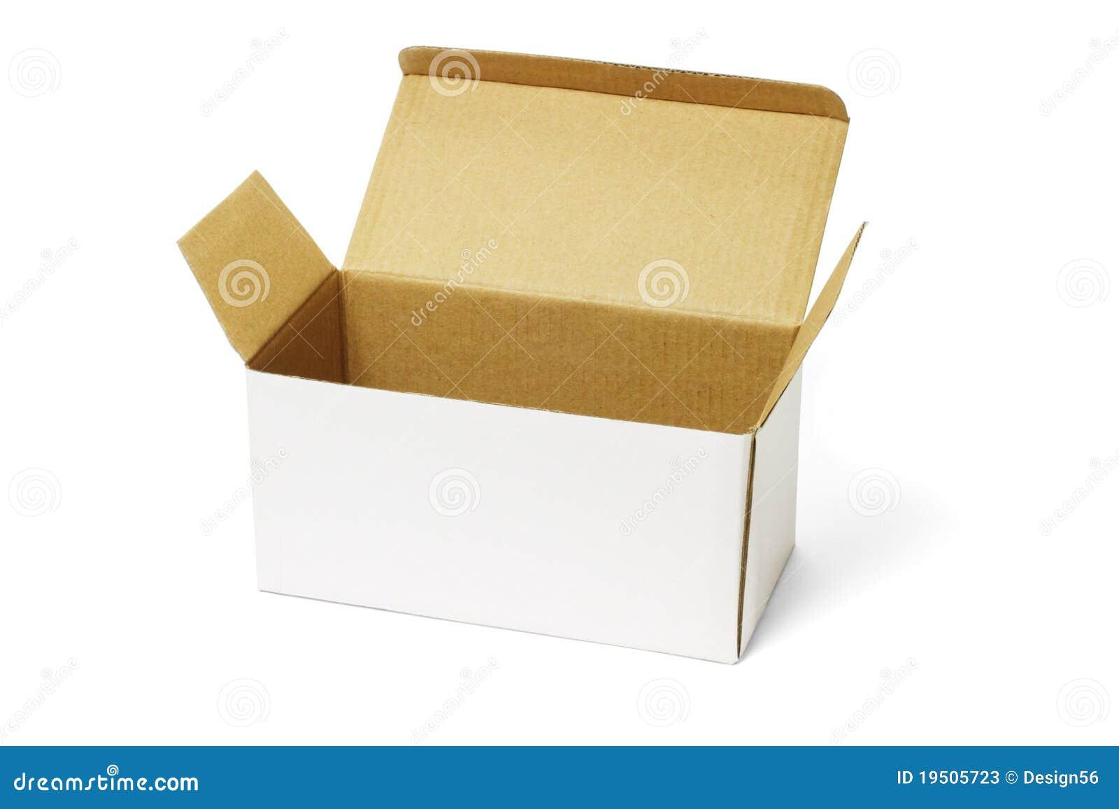 Open White Carton Box Stock Photos - Image: 19505723