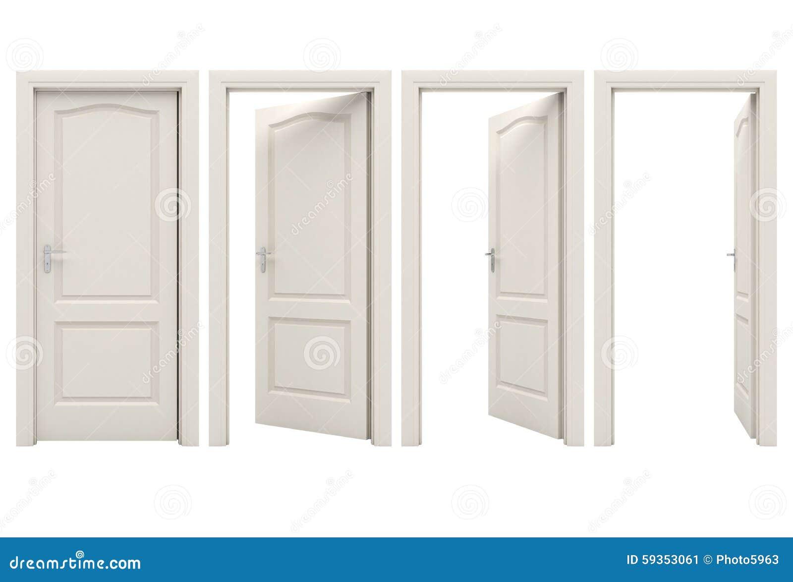 open door closed door. royaltyfree illustration download open white door closed p