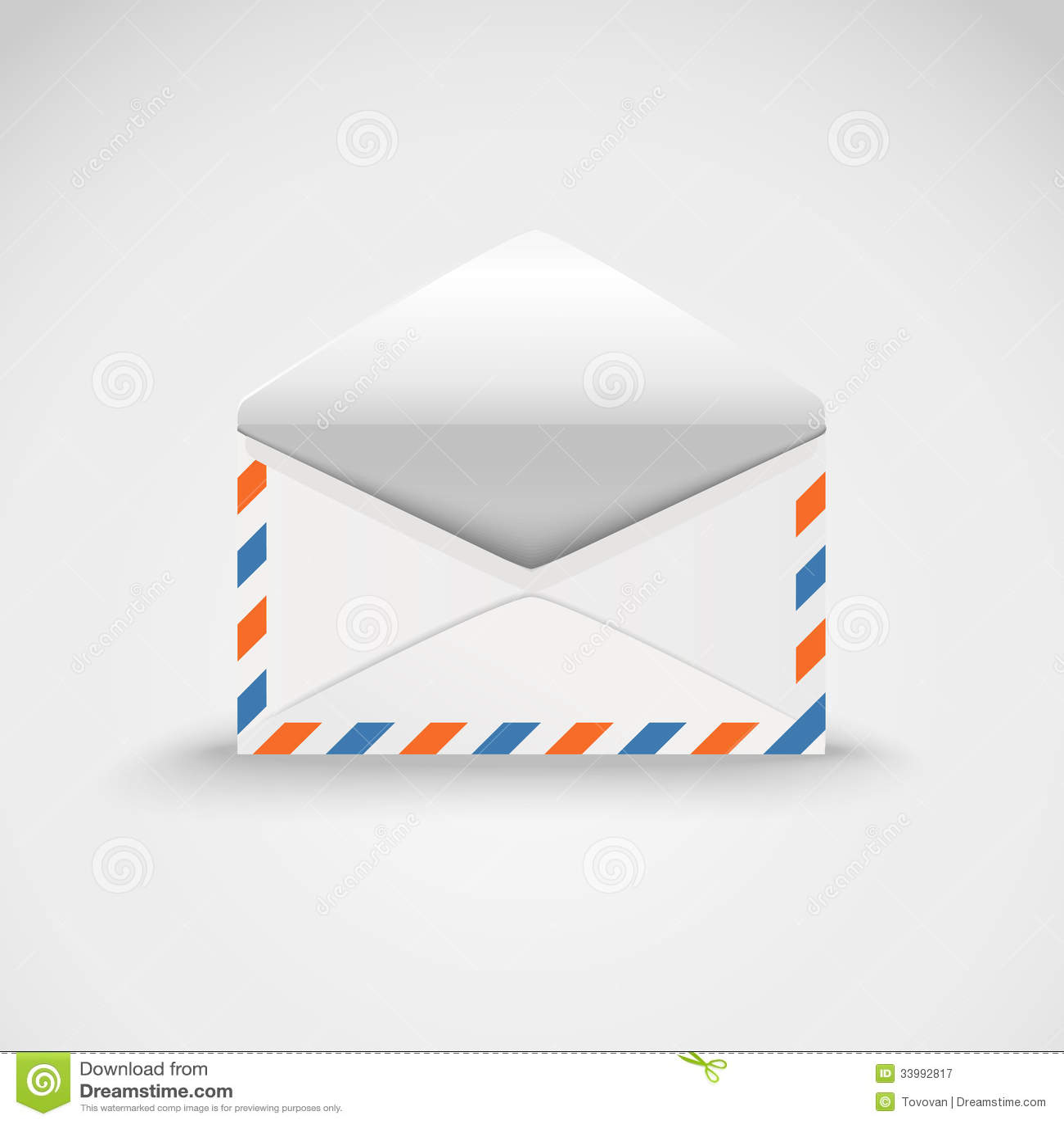 Open White Envelope Royalty Free Stock Photography - Image: 33992817