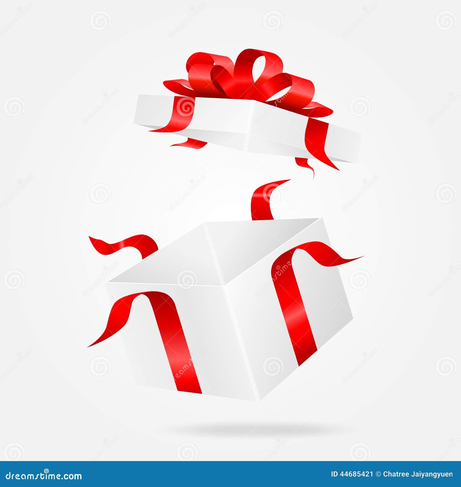 Open White Gift Box. Vector Illustion Stock Vector ...
