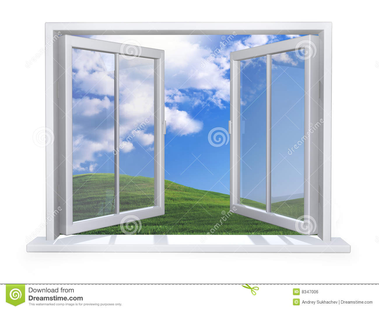Open white window stock photo image of dream windows for Window window
