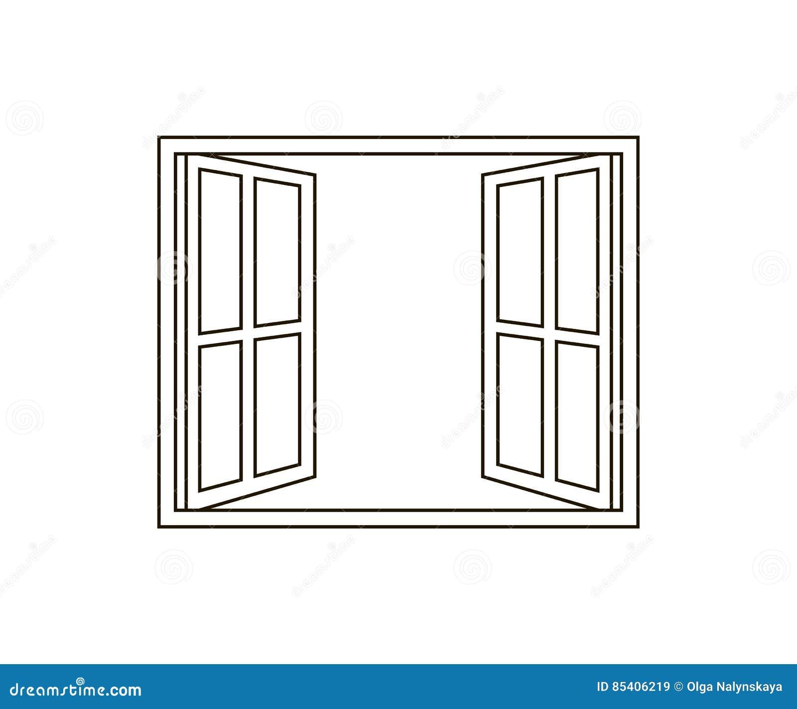 Open Window Icon Stock Vector Illustration Of Looking