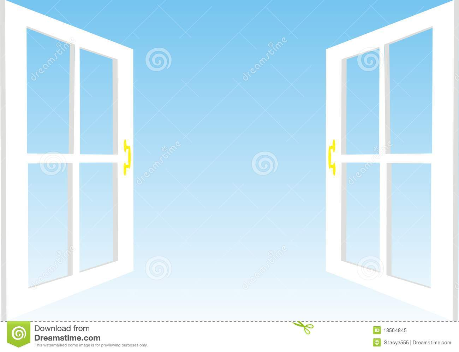 Open Window, Illustration Royalty Free Stock Photo - Image: 18504845