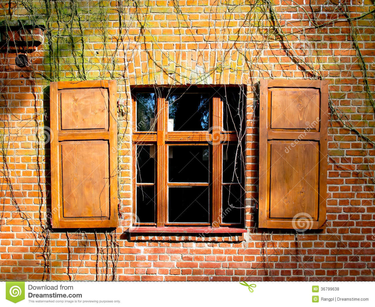 Open Window Shutters Royalty Free Stock Photos Image