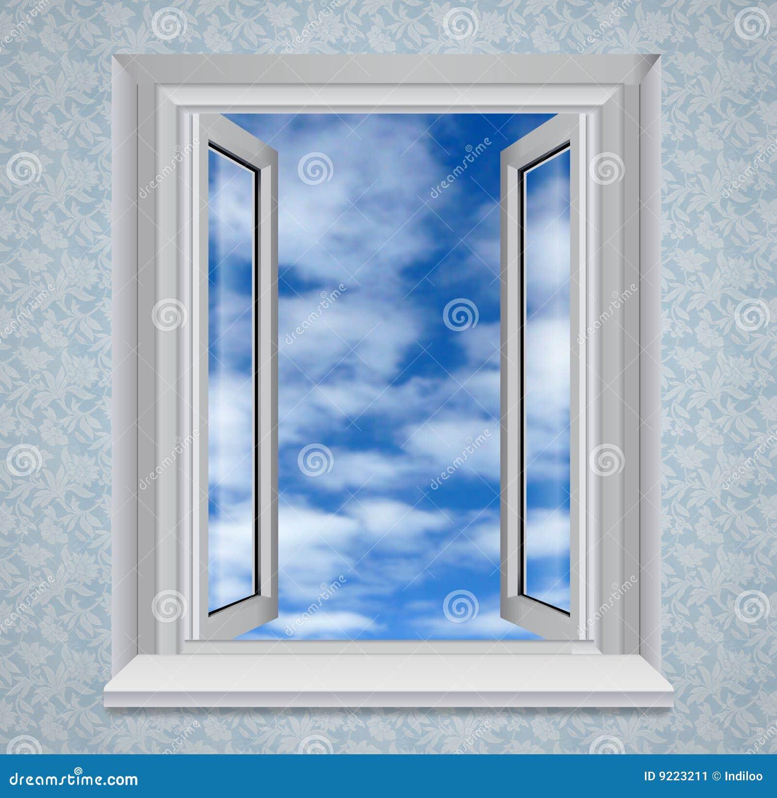 Open window to blue sky stock illustration illustration - Download er finestra ...