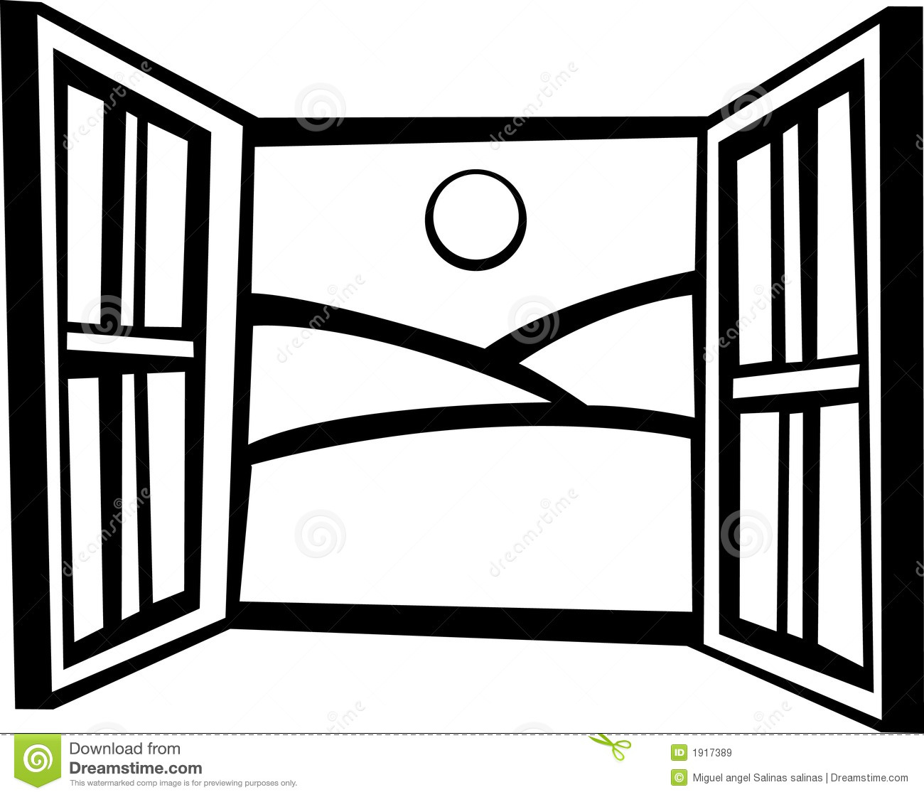 Open window vector illustration stock vector for Window design art