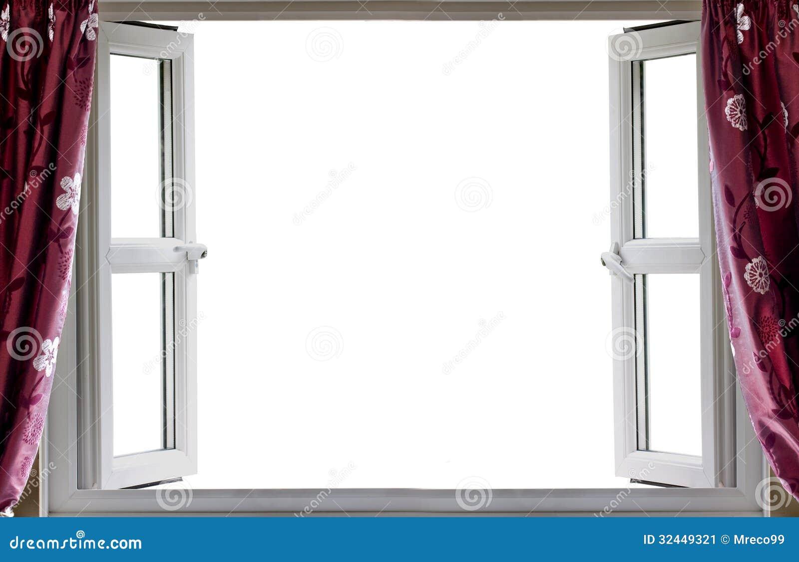 Open Window White Background Stock Image - Image: 32449321