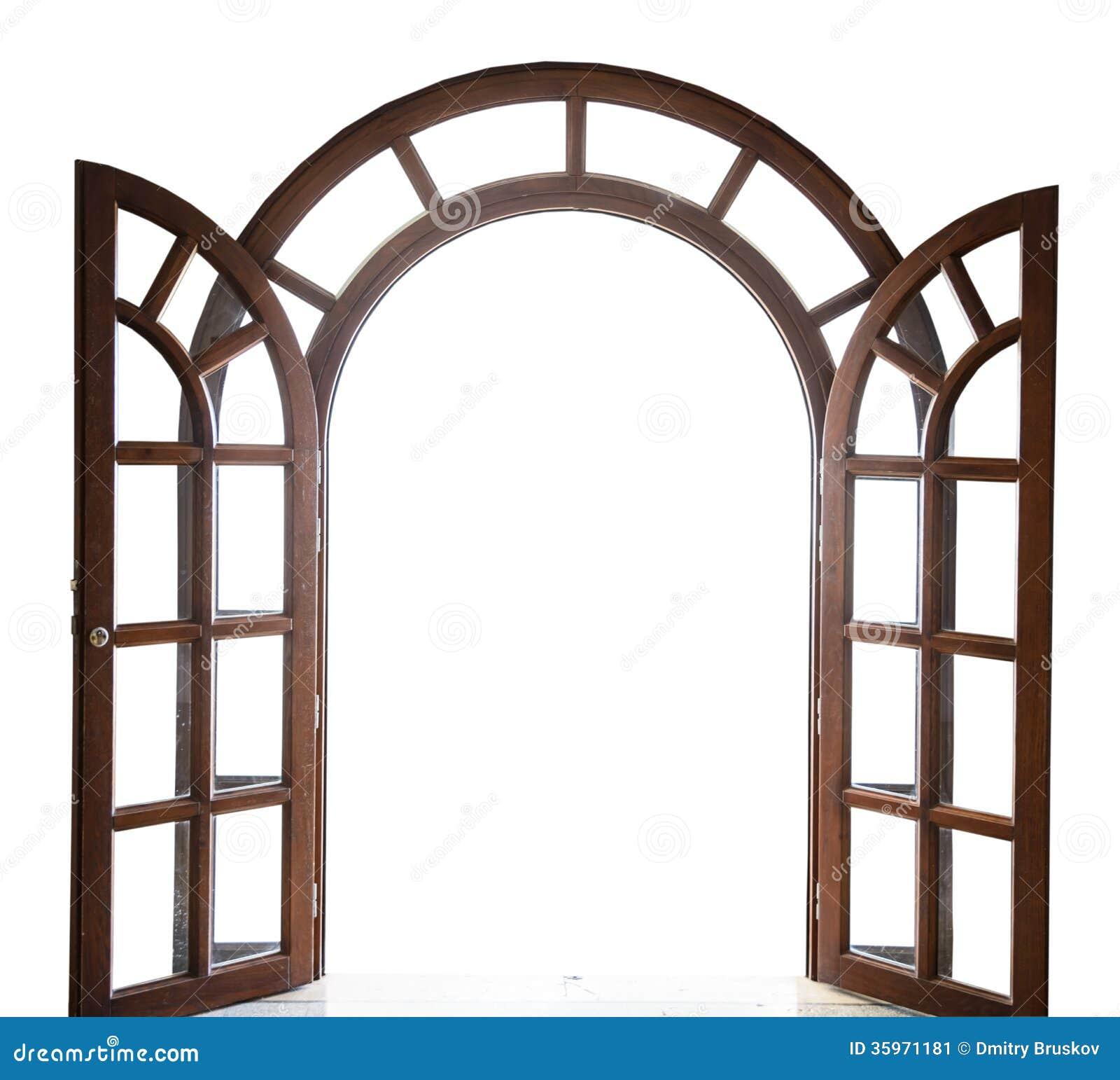 Open W 246 Lbte Holzt 252 R Auf Einem Wei 223 En Hintergrund Stockbild