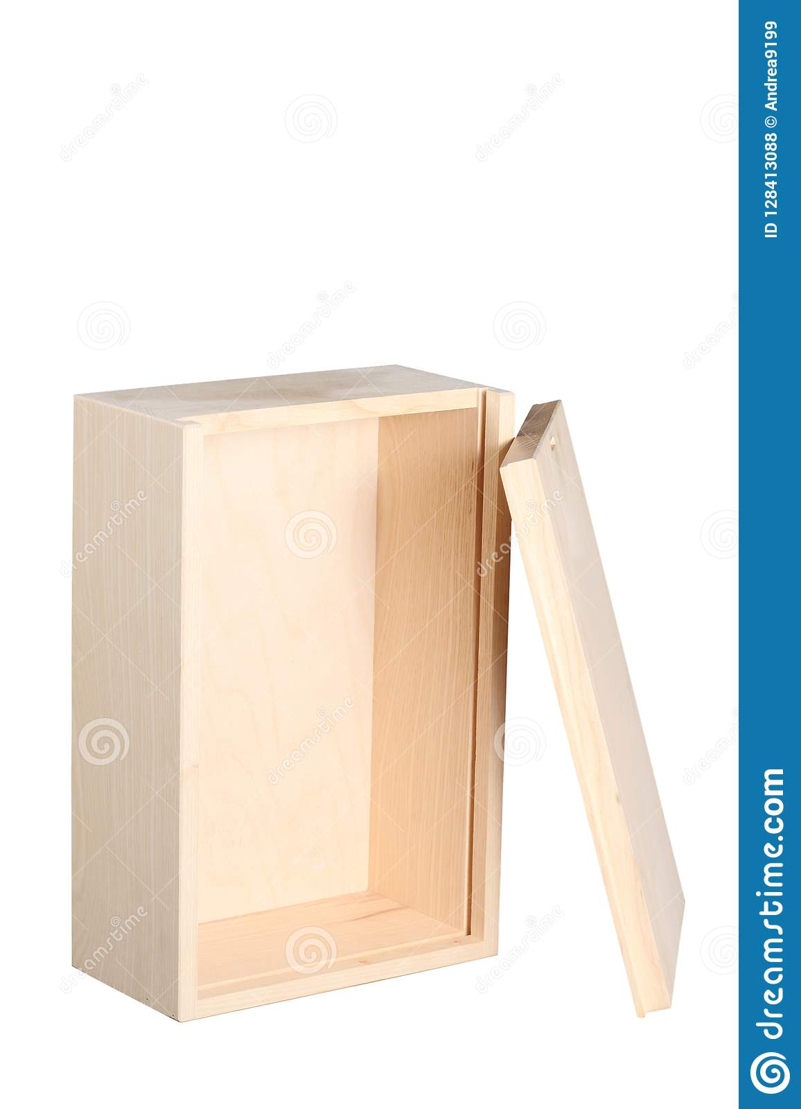 Open Wood Wine Box Isolated On White Background With Clipping Path