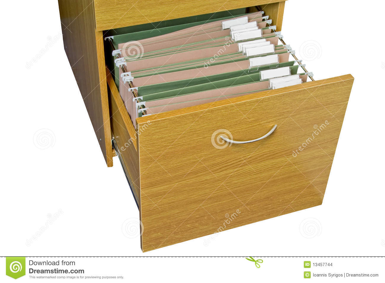 Open Wooden Filing Cabinet Stock Photo Image Of Labels