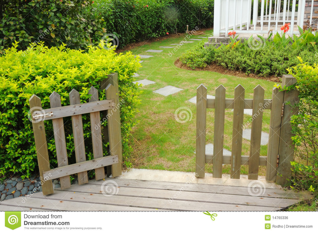Open wooden gate and fence stock photo image of nostalgia