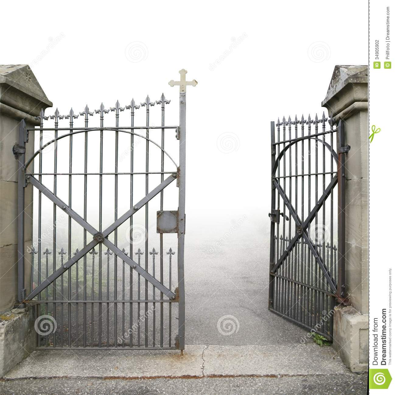 open wrought iron gate stock photo image of doorway 34905902