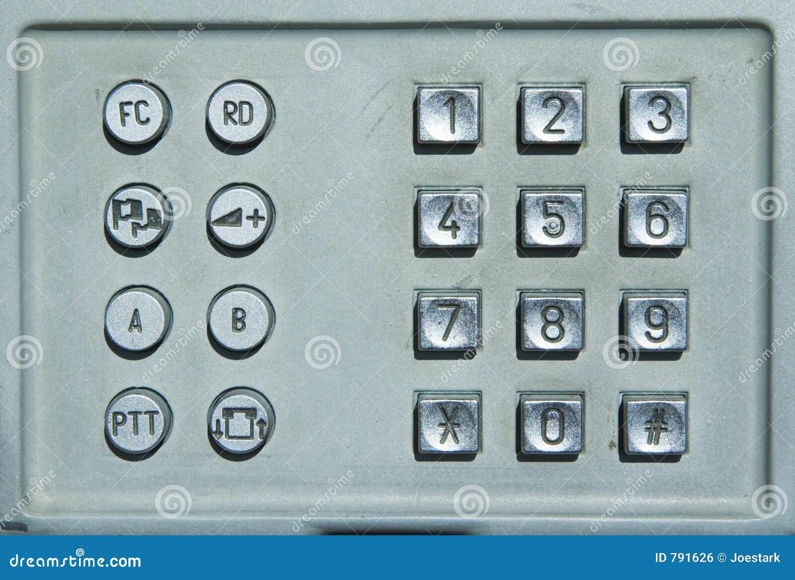 Openbaar telefoontoetsenbord