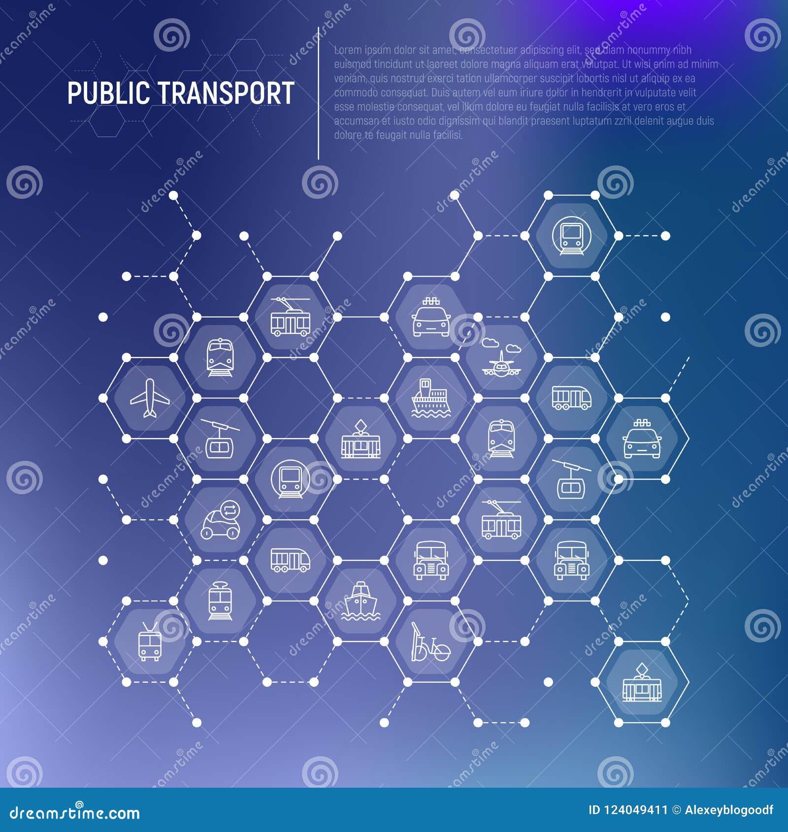 Openbaar vervoerconcept in honingraten