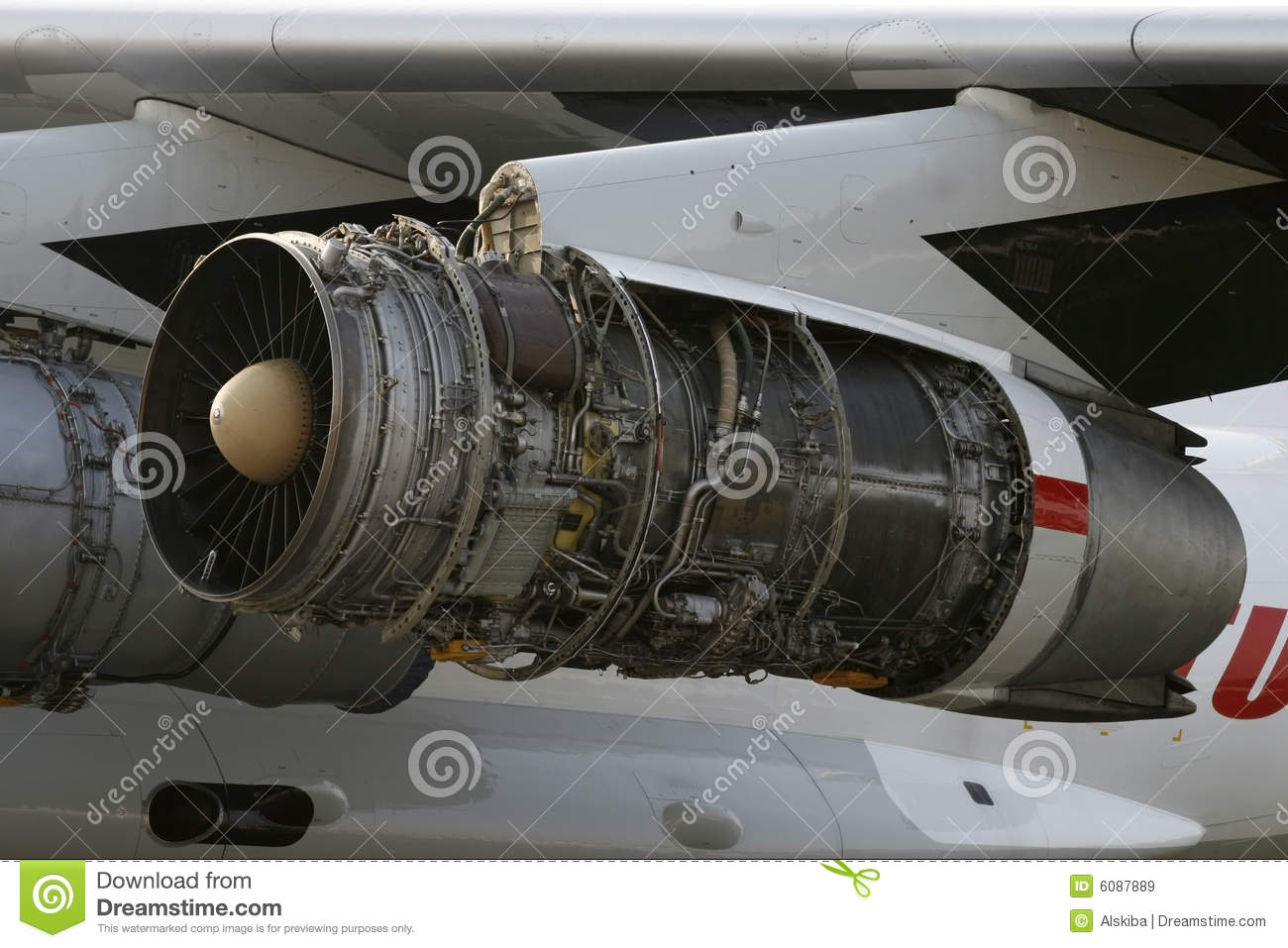 Opened Aircraft Engine D-30KP-2 Stock Image - Image: 6087889