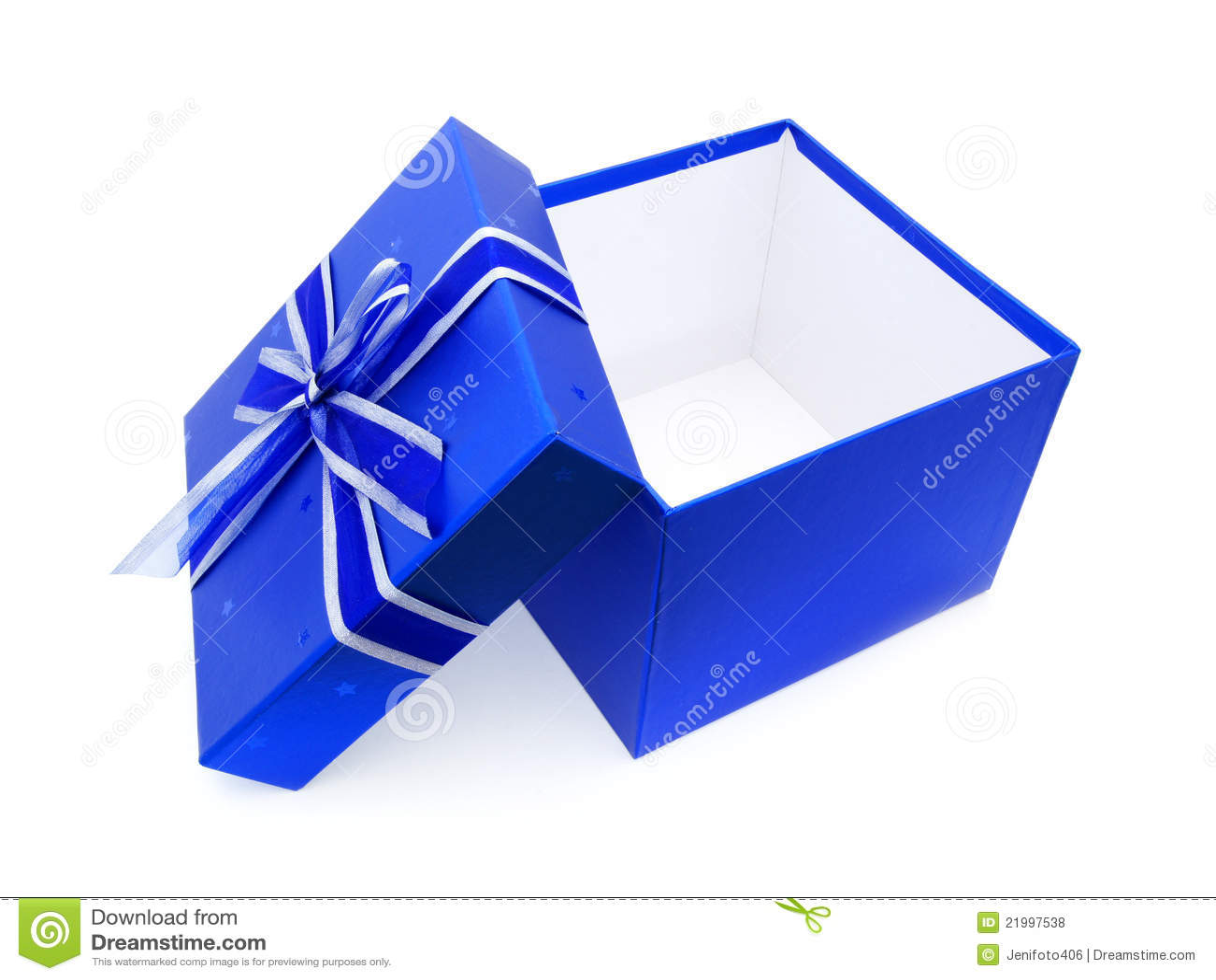 Opened Blue Gift Box Stock Photo 21997538
